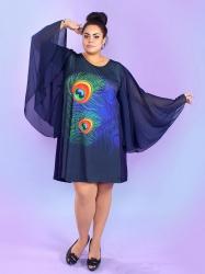 Вечернее платье-туника Пава