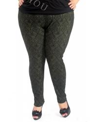 Жаккардовые брюки-утяжки