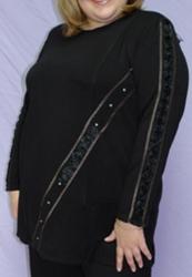 Блуза полушерстяная