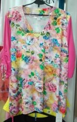 Блуза из вискозного трикотажа